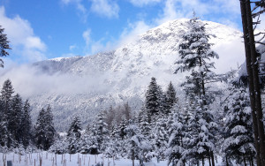 bergen en sneeuw in Brandenburg
